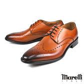 【Marelli】時尚雕花德比紳士鞋 褐色(164F-TAN)