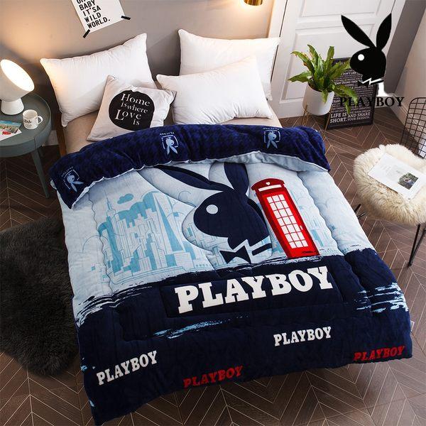 Playboy法蘭絨暖暖被 加厚款 (多款花色任選)【柔軟細緻保暖】PAY-02都市時尚(A-nice)