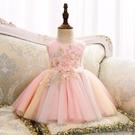 寶寶裙子周歲生日兒童連衣裙彩虹洋氣女童公主裙蓬蓬紗嬰兒禮服夏