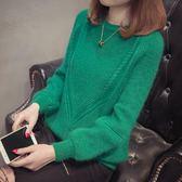 毛衣 2018秋冬季新款時尚毛衣女套頭短款寬鬆打底衫韓版百搭針織衫上衣