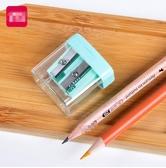 0576捲筆刀可愛兒童雙孔削筆器