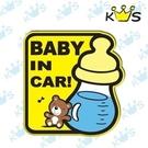 【收藏天地】防水防曬*安全帽 汽機車 萬用貼-Baby in car 奶瓶款