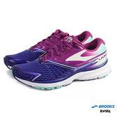 BROOKS 新竹皇家  LAUNCH 2 紫藍 漸層 橡膠大底 皮革 慢跑鞋 女款 NO.I6400