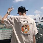 T恤 2018夏季印花白色短袖T恤男士加肥大碼寬鬆體恤衣服韓版潮流男裝 芭蕾朵朵