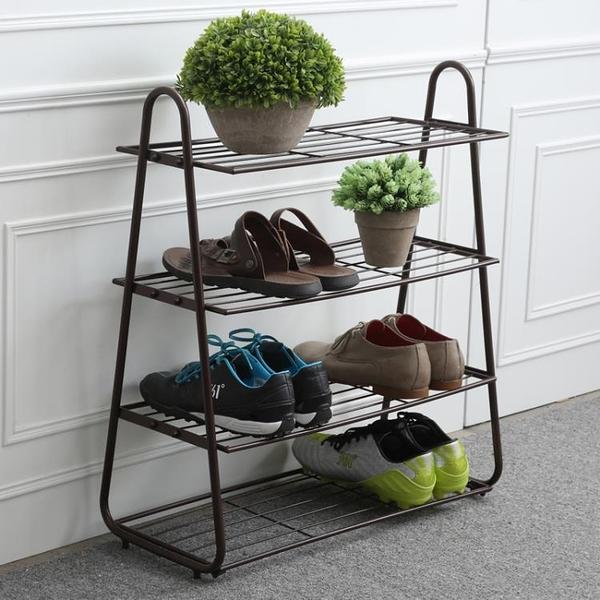 鞋架簡易家用現代經濟型防塵多層鐵藝省空間宿舍門口多功能置物架RM