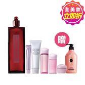 SHISEIDO 國際櫃 購 紅色夢露200ml 贈 透白潔膚皂30ml+晶白明肌乳7ml+