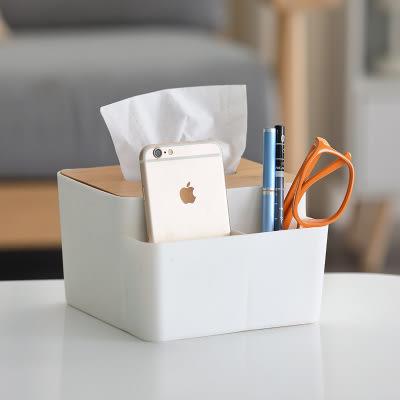 【現領現折100】WaBao 創意竹製面紙盒 紙巾盒 桌面收納盒 =Z03075=