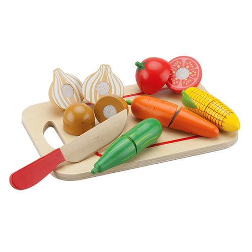 【奇買親子購物網】荷蘭【New Classic Toys】蔬食切切樂8件組