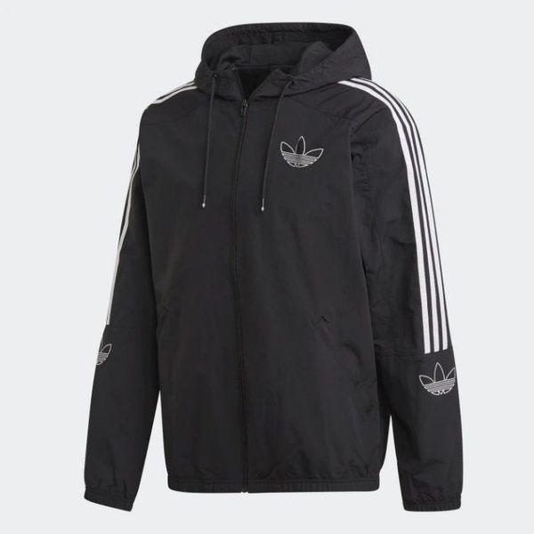 【折後$2699】▶adidas OUTLINE WINDBREAKER  黑色 風衣 運動外套 男生 ED4688