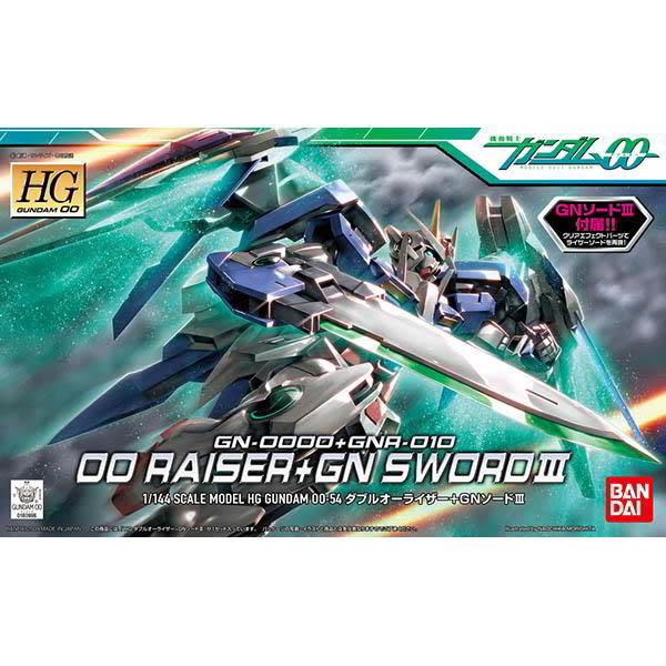 鋼彈00 BANDAI 組裝模型 HG 1/144 GN-0000+GNR-010 00鋼彈+0 Raiser武裝戰機 54