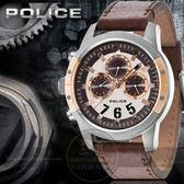 POLICE 義大利國際品牌CONCEPT 鋼鐵型男潮流日曆腕錶14381JSUR 04