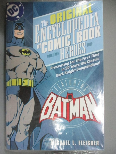 【書寶二手書T1/漫畫書_YJO】The Original Encyclopedia of Comic Book Heroes 1: Batman