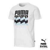 Puma 白色 棉質 短袖 T恤 男女款 NO.H2909【新竹皇家 58387502】
