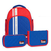 Tiger Family彩虹超輕量護脊書包+文具袋+鉛筆盒-道奇藍