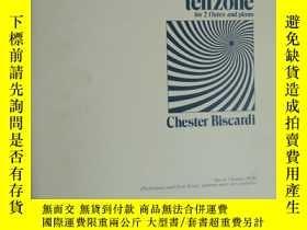 二手書博民逛書店老樂譜罕見tenzone for 2 flutes and pi