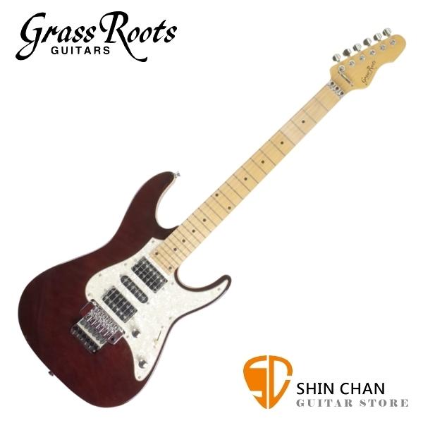Grass Roots Esp 副廠 酒紅色 雙單雙 大搖座電吉他 附 琴袋、背帶、Pick×2、琴布、導線