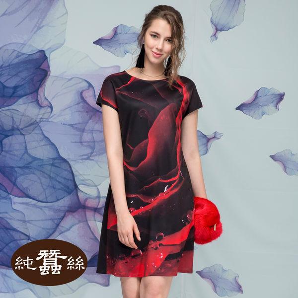 【岱妮蠶絲】祕密花園氣質蠶絲洋裝