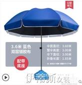戶外遮陽傘太陽傘遮陽傘大雨傘大型戶外擺攤大號超大庭院商用廣告雨棚防雨 伊蒂斯 LX