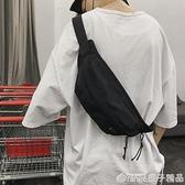 胸包男韓版ins運動學生單肩包休閒工裝斜跨小背包女斜挎包男『橙子精品』