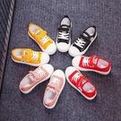 春夏新款兒童帆布鞋男童休閒鞋網面女童鞋韓版餅干鞋寶寶鞋子 快速出貨