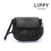 LIPPY  鉚釘裝飾-斜背包Crossbody瑪塔Marta- 深灰