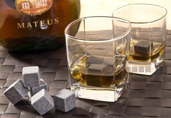 約翰家庭百貨》【AG650】威士忌冰石 WhiskeyStones冰酒石石頭冰塊保冷冰石 9顆裝