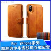 iPhone i6 i7 i8 ix 小牛皮紋皮革側掀插卡皮套 錢包 長夾