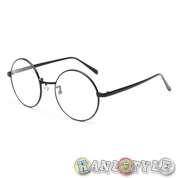 金屬復古可愛俏皮中性眼鏡 (附眼鏡盒)【050735】韓飾代【HandStyle】眼鏡 平光眼鏡 造型眼鏡