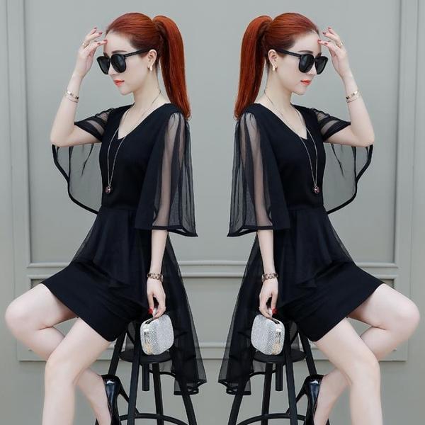 洋裝 雪紡連身裙女夏季2020新款溫柔超仙冷淡風顯瘦網紗中長款春夏裙子 交換禮物