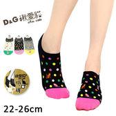 短襪  低口少女襪  彩貓打網款  台灣製  D&G