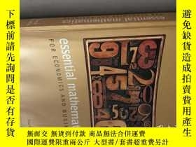 二手書博民逛書店Essential罕見Mathematics for Economics and BusinessY15616
