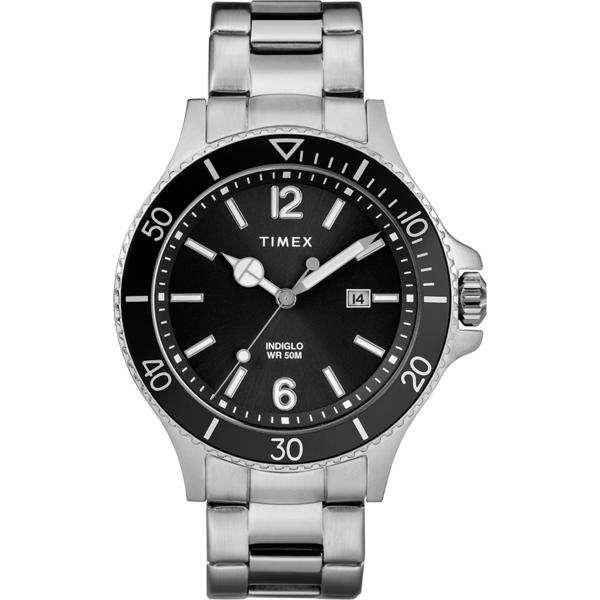 【TIMEX】天美時 風格系列 經典紳士手錶(黑/銀 TXTW2R64600)
