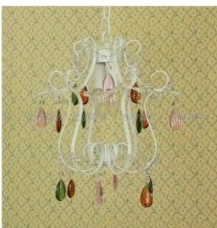設計師美術精品館美式 鄉村 田園 波西米亞彩色水晶 餐吊燈玄關燈門廳燈 超特價限
