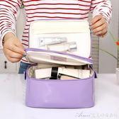 新款韓版卡通女孩大號大容量防水洗漱收納雙層化妝包艾美時尚衣櫥