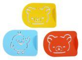 【卡漫城】 拉拉熊 模板 3入組 ㊣版 小雞 懶懶熊 Rilakkuma  烘焙 裝飾片 甜點 裝飾 糖粉篩 噴花模