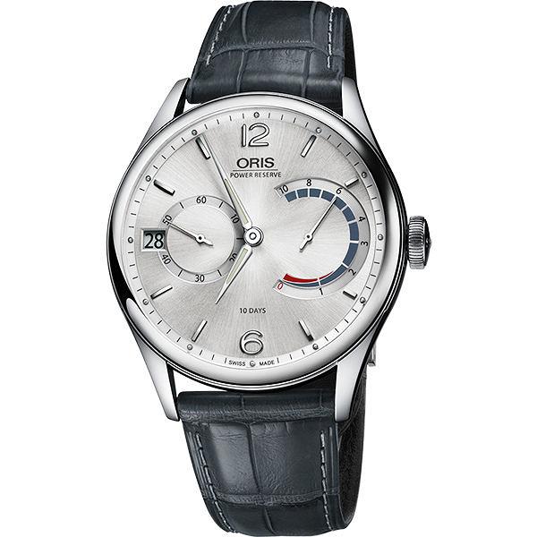 ORIS 豪利時 Calibre 111 十日動力儲存手動上鏈機械手錶-銀x灰/43mm 0111177004061-0712371FC
