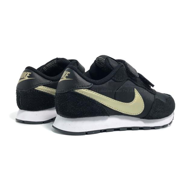 《7+1童鞋》中童 NIKE MD VALIANT (PSV) 復古款 運動鞋 慢跑鞋 H821 黑色