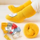 5雙嬰兒襪子 秋冬保暖卡通棉質新生兒長筒襪