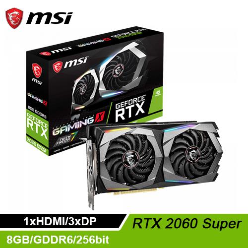 【MSI 微星】GeForce RTX 2060 SUPER GAMING X 顯示卡