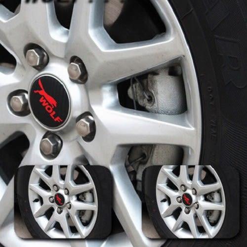 FOCUS 改裝 WOLF前後車標+WOLF輪胎蓋 碳纖維貼紙【已裁好】簡單容易DIY 沂軒精品 A0051