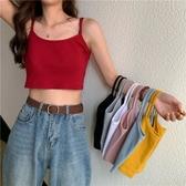 小可愛 夏季韓版修身顯瘦小吊帶背心女性感外穿小心機港味chic短款上衣潮