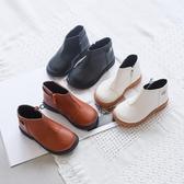 兒童小皮鞋秋季新款女童休閒短靴子男童小寶寶春秋小童單鞋潮 夢幻衣都