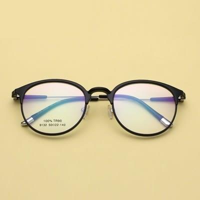 鏡架(圓框)-文藝復古舒適輕盈男女平光眼鏡7色73oe12[巴黎精品]