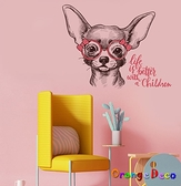 壁貼【橘果設計】手繪貓咪 DIY組合壁貼 牆貼 壁紙 室內設計 裝潢 無痕壁貼 佈置