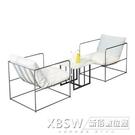卡座沙發組咖啡廳休閒布藝沙發茶幾組合服裝店雙人桌椅CY『新佰數位屋』