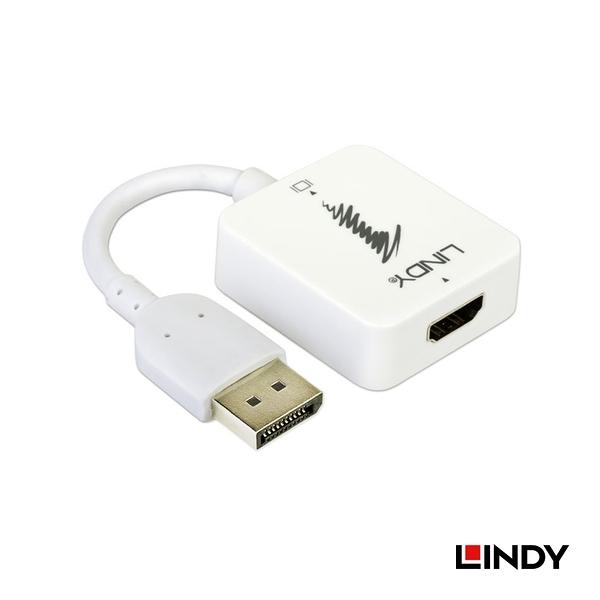 ◤大洋國際電子◢ LINDY 林帝 38146 - HDMI 轉 DISPLAYPORT 4K 轉換器