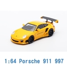 M.C.E. 1/64 模型車 Porsche 保時捷 911 997 MCE640002F 黃色