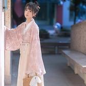 鵲橋仙令魏晉風漢服女古裝中國風日常改良學生交領齊腰襦裙套裝秋 幸福第一站