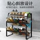 不銹鋼色調料架廚房家用落地三層調味品收納...