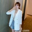 西裝外套 薄款棉麻西裝外套女新款韓版寬鬆休閒氣質西服網紅上衣潮【全館免運】